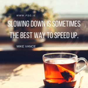 Slowing down is sometimes the best way to speed up